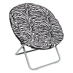 View Oversized Saucer Chair Zebra Print Deals At Big Lots