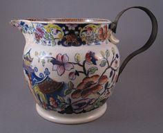 """""""Stone China"""" transferware jug, c.1830"""