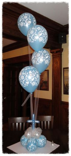 Baby baby shower christening ideas inspiration on for Balloon decoration ideas for christening
