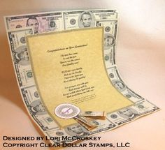 Graduation Money Scroll gift idea