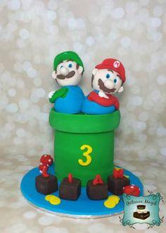 Photos ENFANTS | Gâteaux Magik mario bros luigi cake gateau Luigi Cake, Mario Bros, Photos, Birthday Cake, Party Ideas, Cakes, Desserts, Character, Food