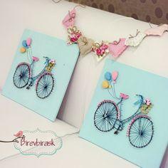 Bike String Art . Wall hanging  Bike   Home decor