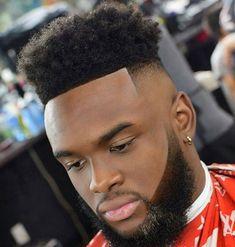 Black Men Haircuts, Cool Mens Haircuts, Stylish Haircuts, Black Men Hairstyles, Curly Haircuts, Boy Hairstyles, High Top Fade Haircut, Shaved Hair Designs, Black Men Beards