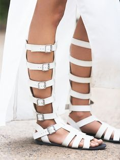 competitive price 70d85 17005 Spartiates montantes blanches - Free People