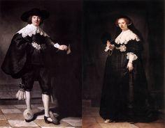 """une entente intelligente dans le domaine de l'art """"Portrait de Marten Soolmans"""" et """"Portrait de Oopjen Coppit"""", de Rembrandt."""