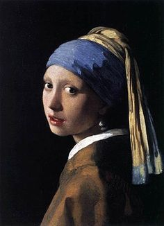 """Johannes Vermeer Girl with a Pearl Earring, oil on canvas, cm × 39 cm, Mauritshuis, The Hague. This """"Mona Lisa of the North"""" or the """"Dutch Mona Lisa"""" is one of Dutch painter Johannes Vermeer's masterworks and uses a pearl earring for a. Johannes Vermeer, Tim's Vermeer, Most Famous Paintings, Classic Paintings, Famous Artwork, Beautiful Paintings, Famous Art Pieces, Sculptures, Portrait Photography"""