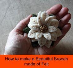 Beautiful Brooch made of Felt