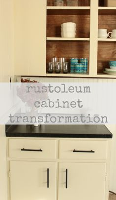 a beautifully budget friendly cabinetry upgrade - rustoleum cabinet transformation tutorial from the space between blog