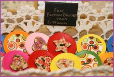 Kids just love our fun button brooches. Great pocket money gifts..