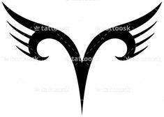 Tribal Aries Zodiac ❥❥❥ https://tattoosk.com/tribal-zodiac-tattoo#123