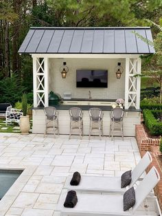 What is a swim-up pool bar? - and how to add one to your gardenWhat is a swim-up pool bar? - and how to add one to your gardenSwim up pool bar with built-in bar Pool House Designs, Backyard Patio Designs, Patio Ideas, Pool Ideas, Backyard Design With Pool, Landscaping Ideas, Cool Backyard Ideas, Bar Ideas, Outdoor Ideas