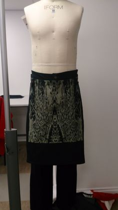 Front of skirt and jeans
