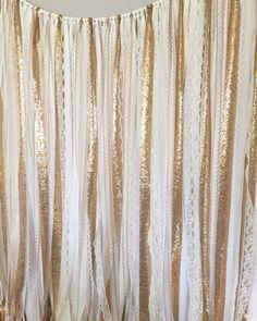 Gold Pailletten Garland Stoff Kulisse - Hochzeit Girlande, Foto Prop, Vorhang, Baby-Dusche, Partei Dekor