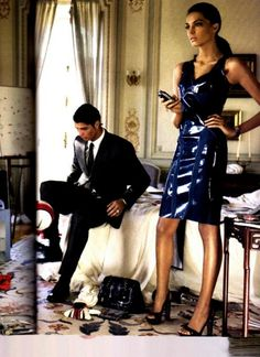 Cristiano Ronaldo and Canadian supermodel Daria Werbowy in US Vogue