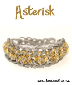 Asterisk Loom Band Bracelet Tutorial, instructions and videos on hundreds of loom band designs. Shop online for all your looming supplies, delivery anywhere in SA.