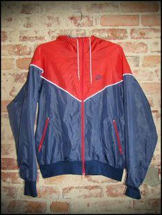 Vintage 80's Nike Blue Tag Nylon Jacket  by RackRaidersVintage, $30.00