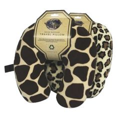 I'm learning all about World's Best Animal Print Travel Pillow - Giraffe/ Leopard Print (2pc) at @Influenster!