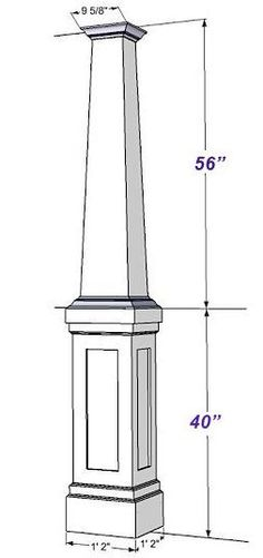 Details of a porch column with stone facade future for 10 foot porch columns