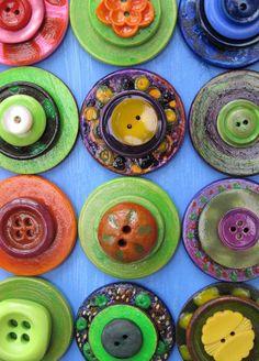 Colourful Handmade Button Art on Behance
