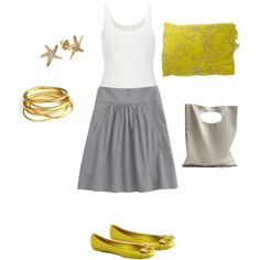 Gray & lime outfit