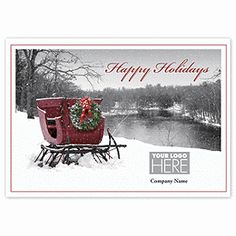 Sleigh Ride Holiday Cards UP13132  | Winter Holiday Cards | Deluxe.com