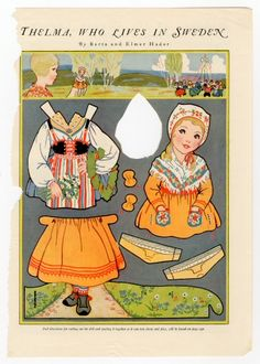 Swedish paper doll