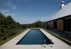 Barn-modern...with a lap pool.