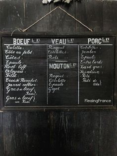 FleaingFrance.....Antique, original French butcher's sign