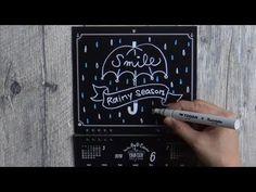 大人黒板なカレンダー6月(チョークアートchalkart)