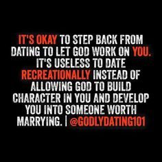 Take time to work on yourself and allow God to work in you