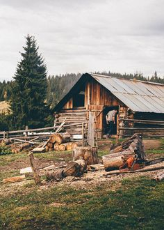 A Romanian Woodsman Cabin in the Mountains