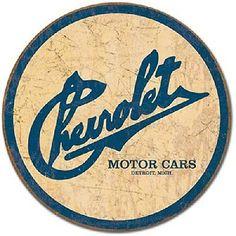 Ford Mustang Pony Logo Metal Tin Vintage Sign Red Round Garage ...