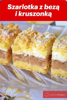 Szarlotka z bezą i kruszonką – Famous Last Words Dessert Cake Recipes, No Bake Desserts, Cookie Recipes, Polish Desserts, Polish Recipes, Potica Bread Recipe, Slow Cooker Beef Curry, Easy Baking Recipes, Homemade Cakes