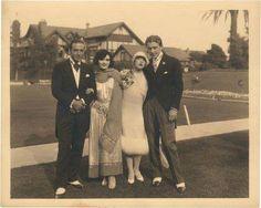 Rudolph Valentino, Pola Negri, Mae Murray, & Prince Mdivani, 1926.