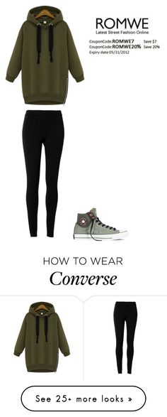 """Untitled #425"" by adancetovic on Polyvore featuring Converse and Max Studio"