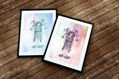 Garden Fairy Art Print for Girls Room or New by EdelweissWishes