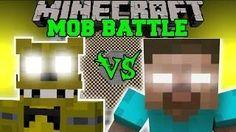 GOLDEN FREDDY VS HEROBRINE - Minecraft Mob Battles - Minecraft Mods