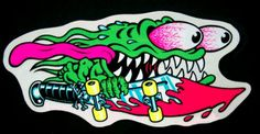 "Keith Meek ""Slasher"" - Santa Cruz skateboard sticker 1985- Cousin"