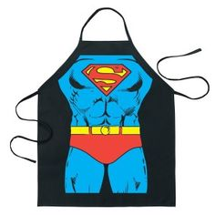Feel like a superhero with this Superman apron. A fantastic costume apron with the classic look of your favorite superhero: Superman. Great for outdoor BBQs or even just baking at home, you can save the day at home or in any kitchen you find yourself. Cotton Anniversary Gifts For Him, Second Anniversary Gift, Anniversary Ideas, Wedding Anniversary, Superman Characters, Superhero Superman, Black Apron, Cotton Gifts, Shopping Near Me