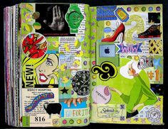 Collage Journal by Mariana deLoto.  More page examples on flickr.
