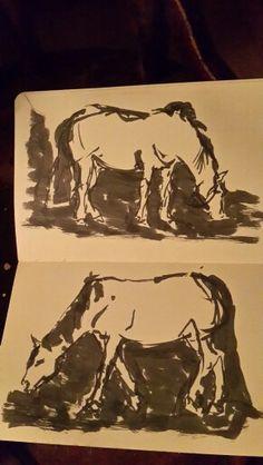 Pental pen left hand
