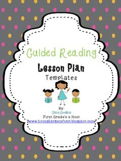 Free  Guided Reading Lesson Plan Template  Sample  Tpt