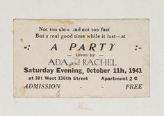 Langston Hughes's rent party