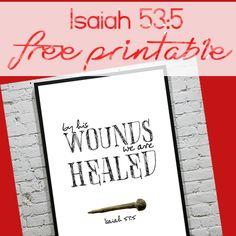 Isaiah 53:5 - free Easter printable