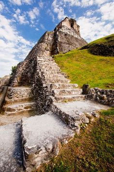 Climbing the temple steps at the Xunantunich Mayan Ruins. Another awesome day in Belize! #adventure #travel