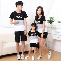 94459d26bde Unbeatable Price - Short Sleeve T-Shirts father Mother baby Clothes - Free  Shipping   No Tax