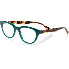 0c954dc36e Eyebobs Sugar Square Colorblock Readers ( 85) ❤ liked on Polyvore featuring  accessories