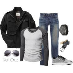 This makes me excited for fall season! Especially because I have all (or similar to) of these items that are apart of this casual night out look! Fashion Night, Look Fashion, Mens Fashion, Fashion Outfits, Fashion Rings, Winter Fashion, Fashion Casual, Guy Fashion, Fashion Shirts