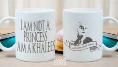 Daenerys Targaryen khaleesi mug, I'm not a princess I am a khaleesi, game of thrones mug, Game of Thrones gift, ASOIAF mug, GOT fans gift