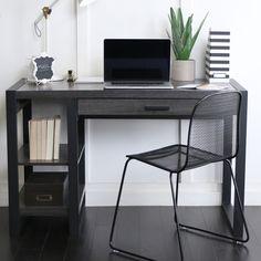 48-inch Urban Blend Charcoal Computer Tech Desk